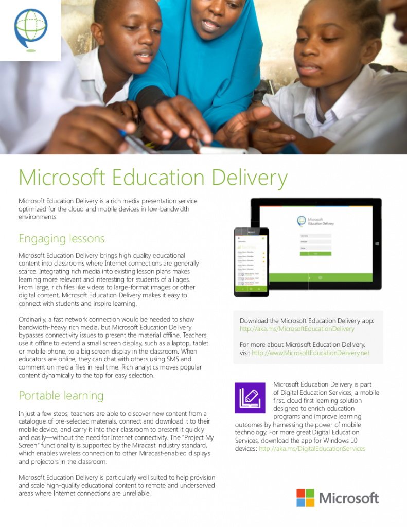 Microsoft Education Delivery